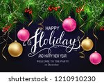 holidays greeting card for... | Shutterstock .eps vector #1210910230