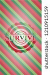 survive christmas colors style... | Shutterstock .eps vector #1210915159