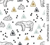 seamless tribal pattern with... | Shutterstock . vector #1210921453