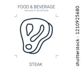 steak icon. high quality line... | Shutterstock .eps vector #1210925680