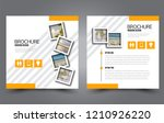 square flyer template. simple... | Shutterstock .eps vector #1210926220
