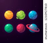 a set of fantasy planets for...