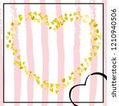 gold glitter hearts confetti ... | Shutterstock .eps vector #1210940506