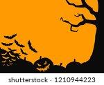black and orange frame for... | Shutterstock .eps vector #1210944223