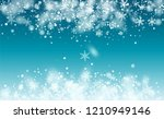 realistic snowflakes background....   Shutterstock .eps vector #1210949146