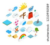 water recreation icons set.... | Shutterstock .eps vector #1210950589
