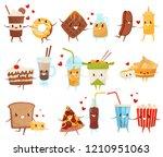 forever friends set  cute funny ... | Shutterstock .eps vector #1210951063