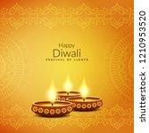 abstract artistic happy diwali...   Shutterstock .eps vector #1210953520