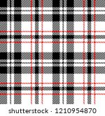 Black Red And White Tartan...