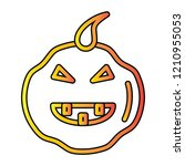halloween pumpkin vector icon | Shutterstock .eps vector #1210955053