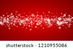christmas snowflakes on red... | Shutterstock .eps vector #1210955086