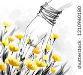 fashion illustration  sketch ...   Shutterstock . vector #1210960180