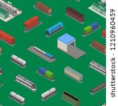 different types train 3d... | Shutterstock .eps vector #1210960459