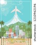 los angeles vector city... | Shutterstock .eps vector #1210962196
