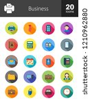 business long shadow icons | Shutterstock .eps vector #1210962880