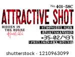 stylish trendy slogan tee t... | Shutterstock .eps vector #1210963099
