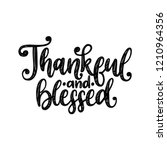 thankful and blessed  hand... | Shutterstock .eps vector #1210964356