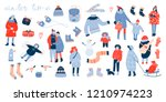 winter activities. various... | Shutterstock .eps vector #1210974223