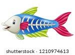 cute x ray fish cartoon | Shutterstock . vector #1210974613