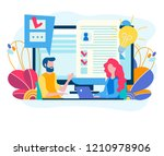 testing for admission at work ... | Shutterstock .eps vector #1210978906