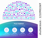 file formats concept in half... | Shutterstock .eps vector #1210981069