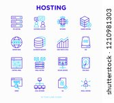 hosting thin line icons set ... | Shutterstock .eps vector #1210981303