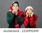 playful asian couple in... | Shutterstock . vector #1210992349