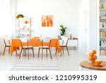 panoramic view of living room... | Shutterstock . vector #1210995319