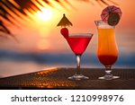 cocktails for all seasons | Shutterstock . vector #1210998976