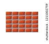pixel video game brick wall | Shutterstock .eps vector #1211002759