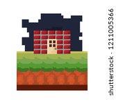 pixel video game | Shutterstock .eps vector #1211005366