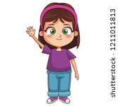 girl children cartoon | Shutterstock .eps vector #1211011813