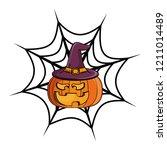 halloween scary cartoon | Shutterstock .eps vector #1211014489