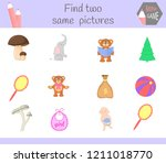 find two same pictures. cartoon ... | Shutterstock .eps vector #1211018770