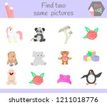 find two same pictures. cartoon ... | Shutterstock .eps vector #1211018776