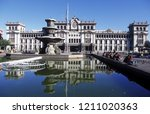 a main square at the guatemala... | Shutterstock . vector #1211020363