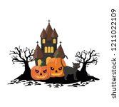 halloween scary cartoons | Shutterstock .eps vector #1211022109