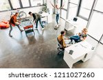 high angle view of group of... | Shutterstock . vector #1211027260