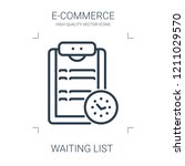 waiting list icon. high quality ... | Shutterstock .eps vector #1211029570