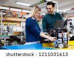 young students of robotics...   Shutterstock . vector #1211031613