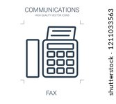 fax icon. high quality line fax ... | Shutterstock .eps vector #1211033563