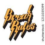 break rules. vector handwritten ... | Shutterstock .eps vector #1211035399