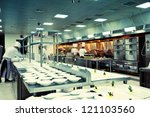 motion chefs of a restaurant... | Shutterstock . vector #121103560