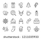 set of christmas icons  such as ... | Shutterstock .eps vector #1211035933