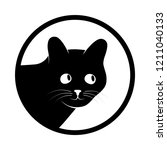 sign head cat. isolated black...   Shutterstock .eps vector #1211040133