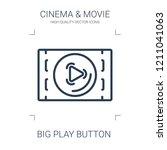 big play button icon. high...