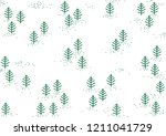 christmas snow fir forest... | Shutterstock .eps vector #1211041729
