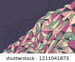 low poly abstract wallpaper.... | Shutterstock .eps vector #1211041873