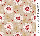 christmas seamless pattern with ... | Shutterstock .eps vector #1211049190