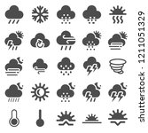 weather flat icons | Shutterstock .eps vector #1211051329